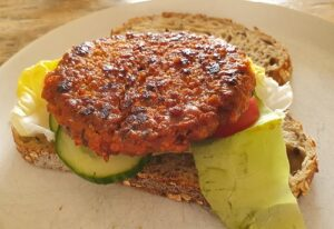 Shiitake burger - Veganistisch & vegetarisch